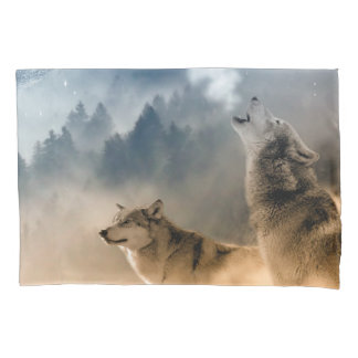 Howling Wolfes Foto Pillow Case