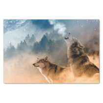 Howling Wolfes Foto Tissue Paper