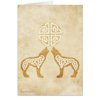 Howling Wolves Greeting Card