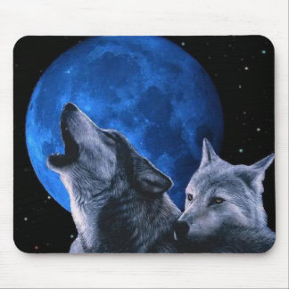 howling wolves mouse pad