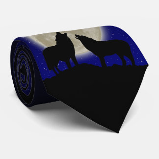 Howling Wolves Tie