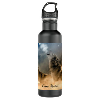 Howling Wolves Water Bottle