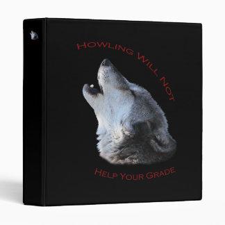 Howling...Your Grade Vinyl Binders