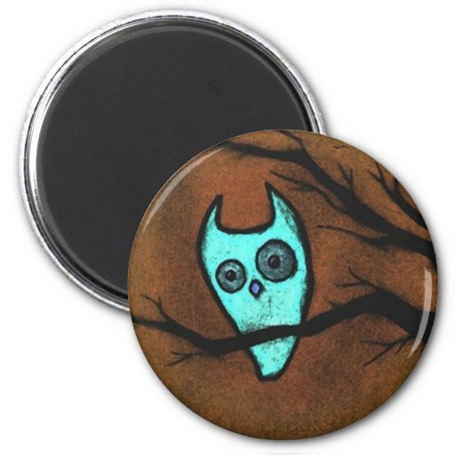 Howly Owly 2 Inch Round Magnet