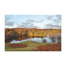 Hows del Tarn - distrito inglés del lago Impresión En Lienzo Estirada
