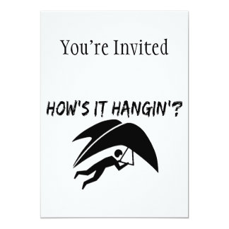 How's It Hangin Hang Glider 5x7 Paper Invitation Card