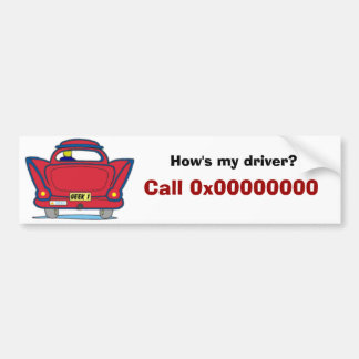 How's my driver?, Call 0x00000000 Bumper Sticker