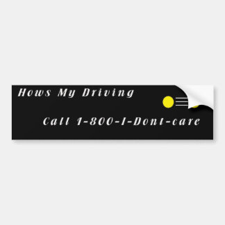Hows My Driving Car Bumper Sticker