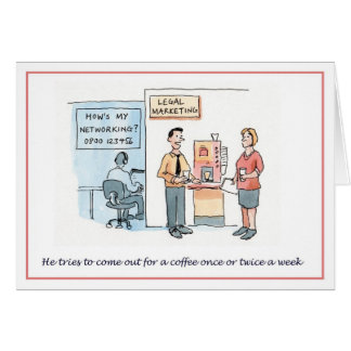Hows my networking? greeting card