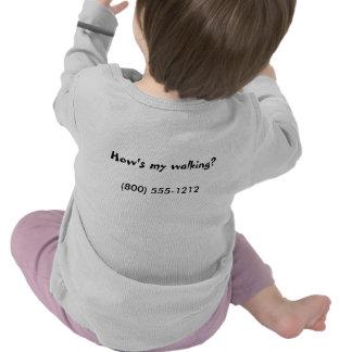 How's my walking?, (800) 555-1212 shirt