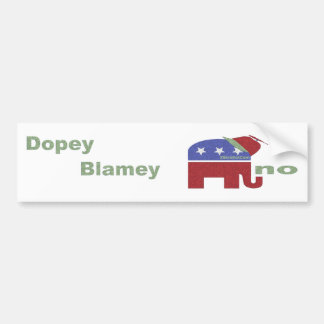 How's that Dopey Blamey Thing Working Out? Bumper Stickers