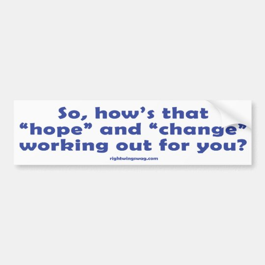 """How's that """"Hope""""? Sticker"""
