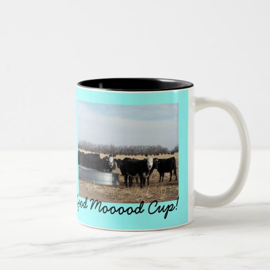 How's Your Moooooood? Two-Tone Coffee Mug