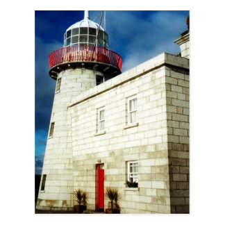 Howth Harbor Lighthouse Dublin Ireland Postcard