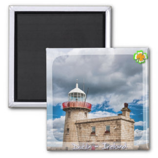 Howth Lighthouse 2 Inch Square Magnet