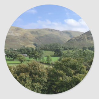 Howtown and Barton Fell in Cumbria Classic Round Sticker