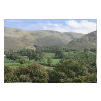 Howtown and Barton Fell in Cumbria Cloth Placemat