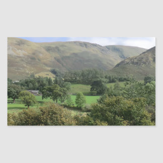 Howtown and Barton Fell in Cumbria Rectangular Sticker