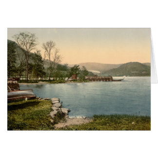 Howtown Pier, Lake District, Cumbria, England Greeting Card