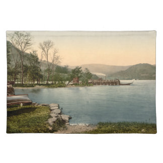 Howtown Pier, Lake District, Cumbria, England Cloth Placemat