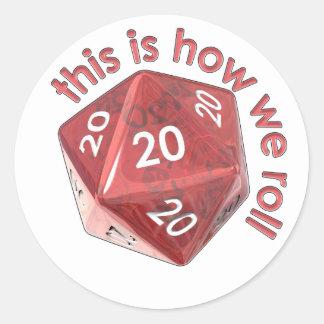 HowWeRoll20s Round Sticker