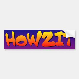 Howzit from Hawaii Bumper Sticker