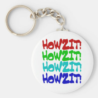 Howzit from Hawaii Basic Round Button Keychain