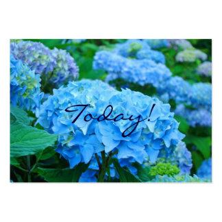 ¡Hoy! ¡Amor uno otro! Flores azules del Hydrangea Plantilla De Tarjeta De Negocio