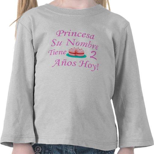 Hoy de Princesa Tiene 2 Años Camiseta
