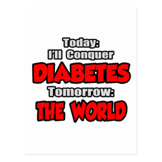 Hoy diabetes Mañana el mundo Tarjetas Postales