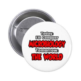 Hoy microbiología… mañana, el mundo pin redondo de 2 pulgadas