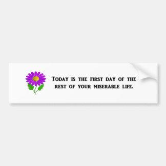 hoy-ser--primero-día-de--resto-de-su pegatina para auto