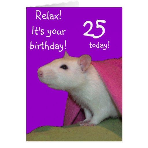 hoy tarjeta de cumpleaños adaptable 25
