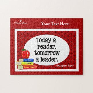 Hoy un lector mañana lunares de un rojo del líder puzzle