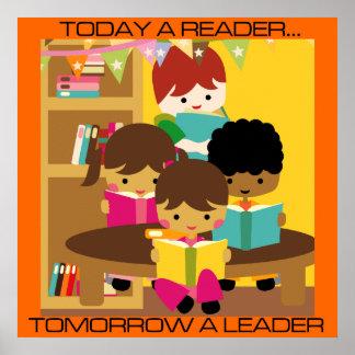 Hoy un líder, mañana un poster de la sala de clase póster