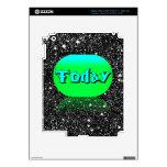 Hoy verde de la piel del iPad y negro de neón iPad 3 Skin