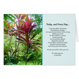 Hoy, y cada día… tarjeta de felicitación