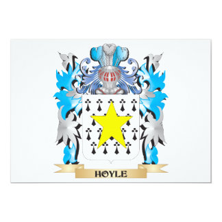 Hoyle Coat of Arms - Family Crest 5x7 Paper Invitation Card