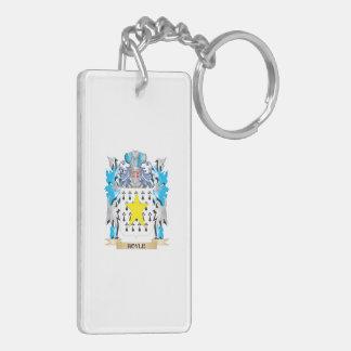 Hoyle Coat of Arms - Family Crest Rectangular Acrylic Keychains