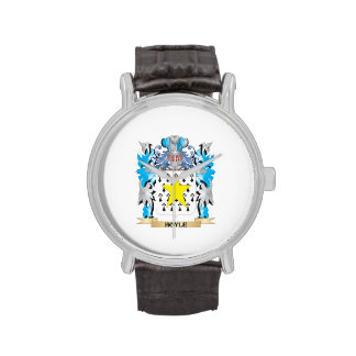 Hoyle Coat of Arms - Family Crest Wrist Watch