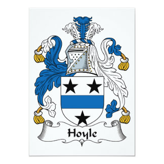 Hoyle Family Crest 5x7 Paper Invitation Card