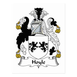 Hoyle Family Crest Postcard