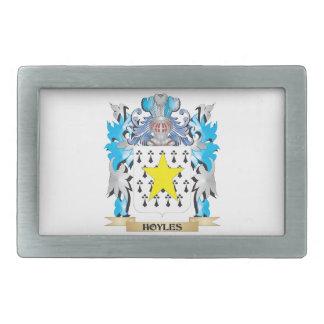 Hoyles Coat of Arms - Family Crest Rectangular Belt Buckles