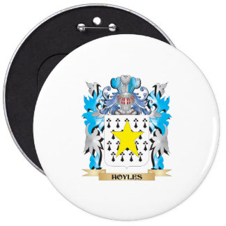 Hoyles Coat of Arms - Family Crest Pinback Buttons