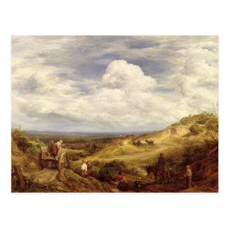 Hoyos de arena, brezo de Hampstead, 1849 Postal