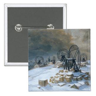 Hoyos en Gentilly en la nieve, 1879 Pins