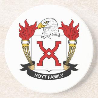 Hoyt Family Crest Beverage Coaster