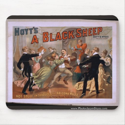 Hoyt's, 'A Black Sheep' Vintage Theater Mouse Pad