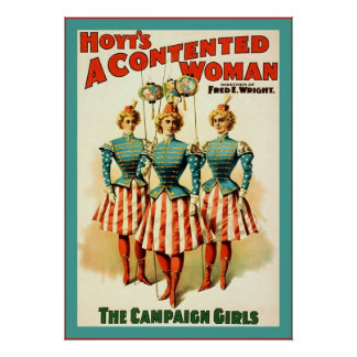 Hoyt's ~ A Contented Woman ~ Vintage Theatre Poster