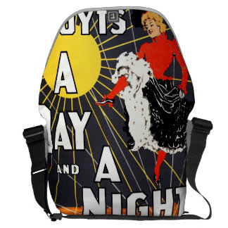 Hoyt's A day and a night in New York Courier Bag